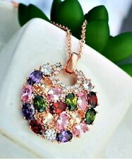 Markenlose Runde Modeschmuck-Halsketten & -Anhänger aus Edelstahl mit Beauty