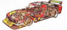Zakspeed Ford Capri  Racer large Cutaway promo poster