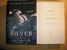 ANDREW MOTION - SILVER : RETURN TO TREASURE ISLAND  1st/1st  HB/DJ  2012  SIGNED