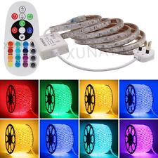 1m~20m 230V RGB LED Strip Light Mains Waterproof Lamp Rope+Remote Controller