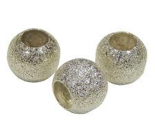 10 Metallperlen Spacer Rondell Stardust 10mm Zwischenperlen Schmuck Basteln M160