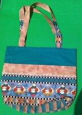 Fabric Tote Bag Handmade Raggedy Ann & Andy NEW! School Child's Books Toys Games