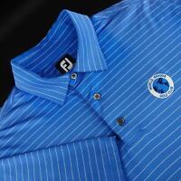 Mens FootJoy FJ Prodry Blue Striped Athletic Golf Polo Shirt Size Large L Casual