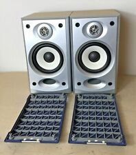 More details for aiwa bookshelf pair of speakers 16 ohms sx-m120 blue / silver / light brown