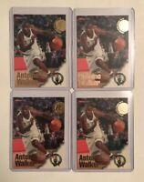 1996-97 NBA Hoops Antoine Walker Boston Celtics Rookie Card #312 RC Lot Of 4