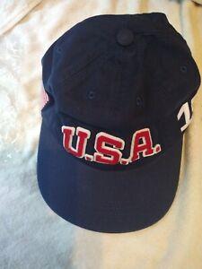 US Olympic Team Ralph Lauren Ball Cap Blue