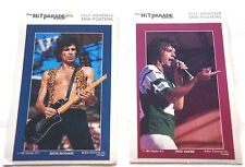 Vintage Retro 1983 KEITH RICHARDS MICK JAGGER ROLLING STONES TWO (2) Sticker Lot