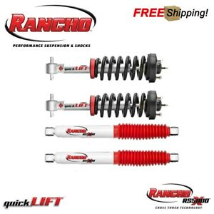Rancho QuickLIFT Front Leveling Strut & Rear Shocks For 2015-2019 Ford F150 4WD