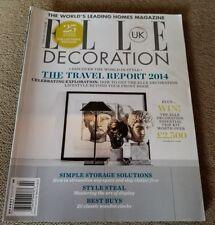 ELLE DECORATION UK MAGAZINE COLLECTORS EDITION FEBRUARY 2014