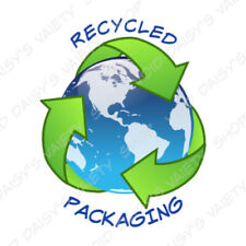 50 RECYCLED PACKAGING STICKER LABEL ENVELOPE SEAL 1.25