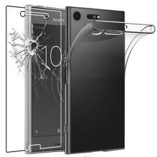 Pour Sony Xperia XZ premium Coque en Gel Silicone Transparent + 1 verre trempé