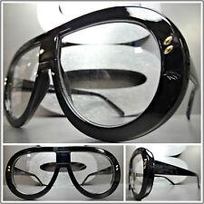 New OVERSIZED EXAGGERATED RETRO Style Clear Lens EYE GLASSES Black Fashion Frame