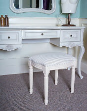 French White Seat Stool Bench Seat Shabby Chic Bedroom Dressing Cream Table