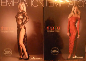 NEW LADIES ANN SUMMERS RIHANNA LACY BODY DRESS SEXY GOWN RED + FREE GARTER !