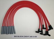 CHEVY 348 & 409 1956-1965 RED 8mm HEI HI-PERFORMANCE Spiral Spark Plug Wires USA