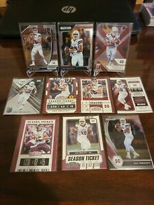 Dak Prescott 10 card lot all Collage uniforms. Prizm,Elite & Contenders Cowboys