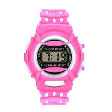 Children Girls Analog Digital Sport LED Electronic Waterproof Wrist Watch New