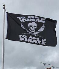Pirate Skull & Cross Bones 5ft x 3ft Quality Garden Banner Flag
