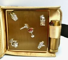 New listing Vintage Ciner Compact Lipstick Tube and Case Rhinestone Martinis I am a Show Off