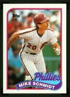 1989 Topps Mike Schmidt #100 lot of 50 Mint cards