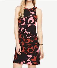 Ann Taylor Sleeveless Knit Tulip Halter Dress Multi Multi-color Regular 8 Shell & Lining Polyester