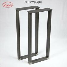 Steel console table legs / base U shape, 1 Pair 30cm/12'' wide 71cm/28'' tall