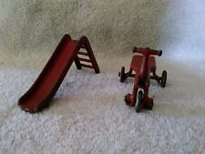 1930's Kilgore Cast Iron Slide and Tricycle Part of the Sally Ann Playground Set