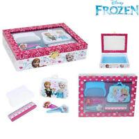 Scatola Con Set Accessori Per Capelli Frozen Elsa Anna Bambine Disney