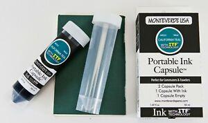 Monteverde Fountain Pen Portable Ink Bottle Capsules, 50ml, Free Empty Vial, New