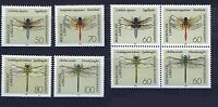 ALEMANIA/RFA WEST GERMANY 1991 MNH SC.1670/1677 Dragonflies