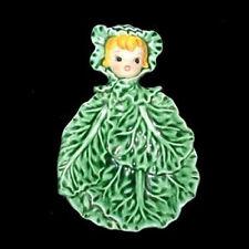 MINT & Rare Vintage LEFTON SPOON REST Cissy Cabbage Cuties Pixie Girl Holder