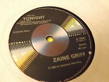 "Zaine Griff: Tonight (Plain sleeve)  7""  BRAND NEW VINYL EX SHOP"
