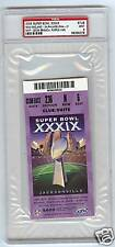 2005 SUPER BOWL PSA 9 TICKET STUB NE WINS PURPLE SCARCE