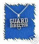 "Sterling Silver Color Guard Director Charm + 18"" Chain"