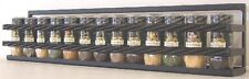 """Wall Spice & Lid Rack With 2 Rope Front Rail 24"""" black"""