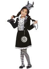 Kids Gothic Dark Mad Hatter Girl Costume