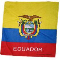 ECUADOR FLAG BANDANA Cotton Scarves Scarf Head Hair Neck Band Skull Wrap