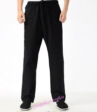 Chinese Mens Tai Chi Morning Exercise Casual Pants Cotton Linen Spring Trousers