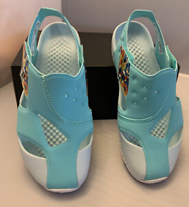 Nike Jordan Flare PS  Youth Sandals ( C17849-301) Aurora Green / White Sz 2Y