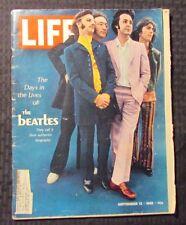 1968 Sept 13 LIFE Magazine VG- 3.5 BEATLES John Lennon Paul McCartney