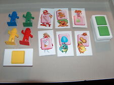 2005 Candy Land Game Replacement 64 Cards and 4 Movers   pawns gingerbread men