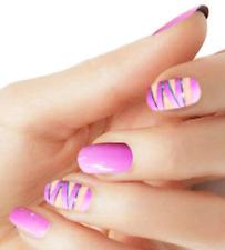 Nail wraps pink color real nail polish strips M59 street art