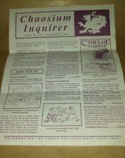 Chaosium Inc Winter product list 1989 RARE RPG vintage