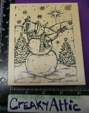 Winter Roly Poly Snowmen Wood Mounted Rubber Stamp New NORTHWOODS O4874 New