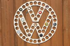 VW Beer Cap Map Volkswagen Bottle Cap Holder Collection Gift Art