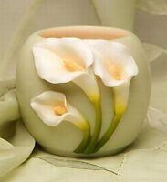 Ibis & Orchid Votive Holder, Calla Lily (21031)