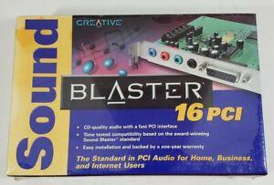 Brand New Sealed CREATIVE Sound Blaster 16 PCI Sound Card PC Model SB4740