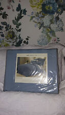 LIZ CLAIBORNE DUSTY BLUE KING BEDSKIRT-HERRINGBONE-MSRP $75-NWT