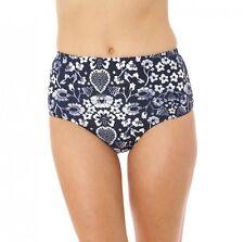 O'Neill Bikini Bottom Sz XL Navy White Retro Americana High Waist Pant SU6474033
