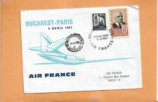FIRST FLIGHT AIR FRANCE BUCAREST TO PARIS APR 5,1967